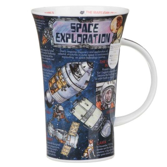 Space Exploration Glencoe Shape Mug