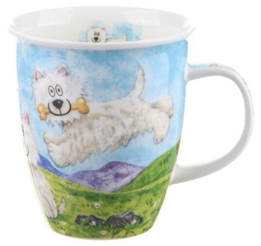 Highland Animals Westie Nevis shape Mug