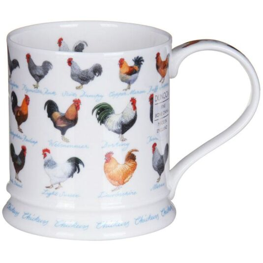 Farm Life Chickens Iona Shape Mug
