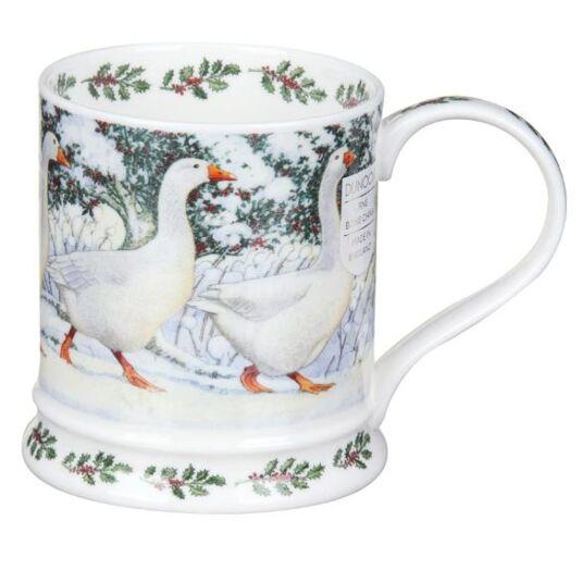 Christmas Festive Birds Geese Iona Shape Mug