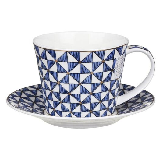 Samarkand Blue Islay Shape Mug and Saucer