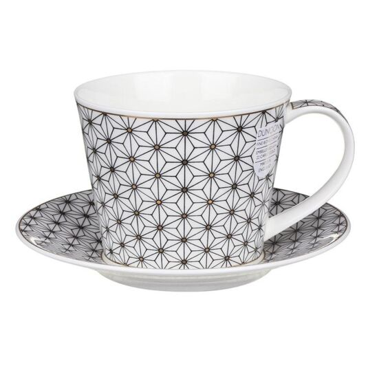 Samarkand White Islay Shape Mug and Saucer