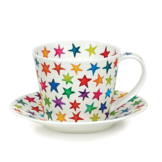Starburst Islay Shape Cup and Saucer