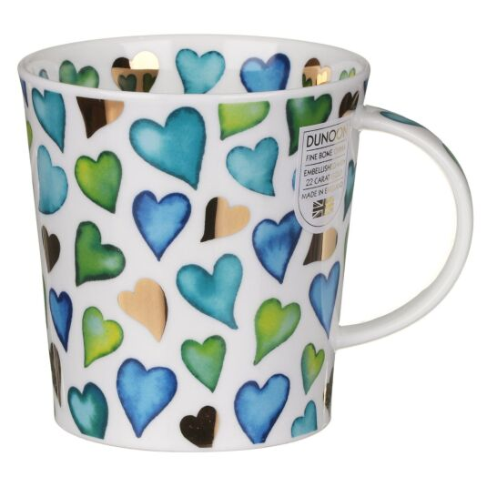 Love Hearts Blue Lomond Shape Mug
