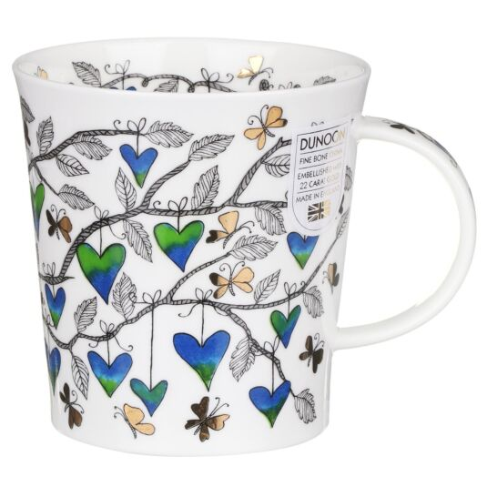 Tree of Hearts Blue Lomond Shape Mug