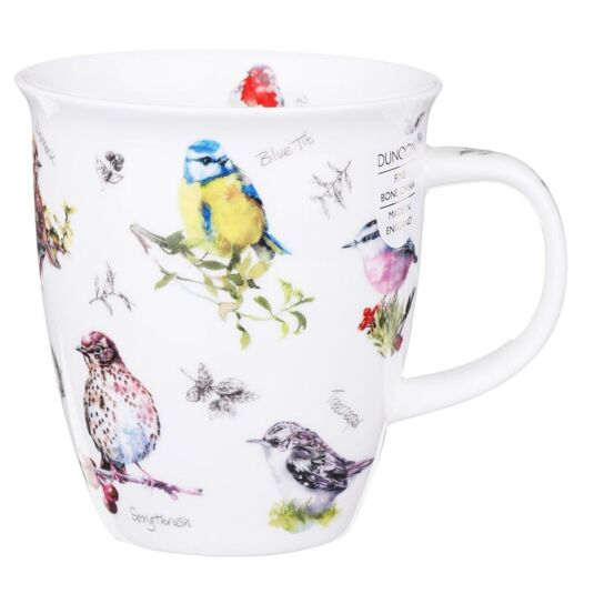 Birdwatch Blue Tit Nevis Shape Mug