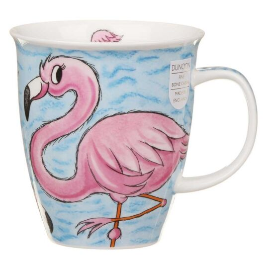 Tropical Birds Flamingo Nevis Shape Mug