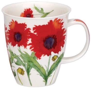 Flora Poppy Nevis shape Mug