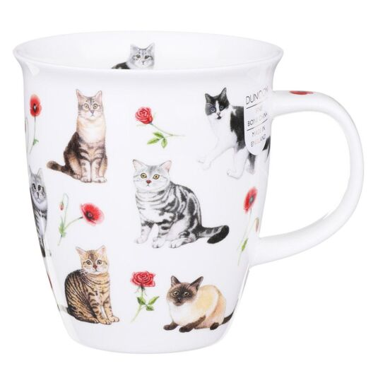 Flower Cats Red Nevis Shape Mug