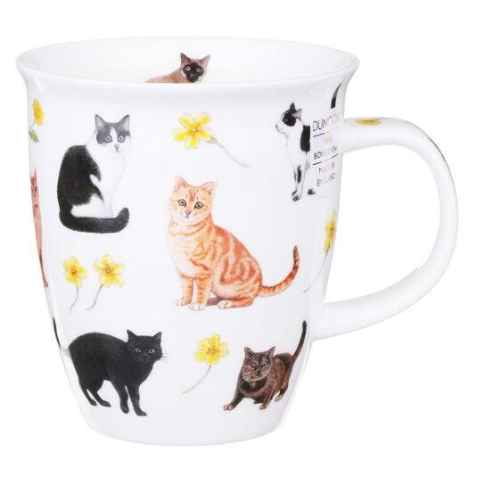Flower Cats Yellow Nevis Shape Mug