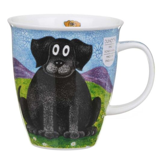 Happy Dogs Black Lab Nevis Shape Mug