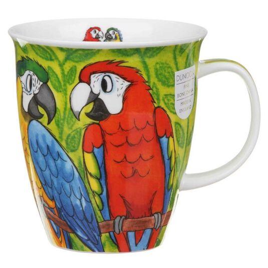 Tropical Birds Macaws Nevis Shape Mug