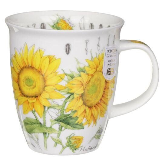 Floral Sketch Sunflower Nevis Shape Mug