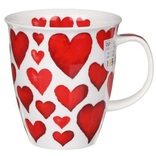 Love Hearts Red Nevis Shape Mug