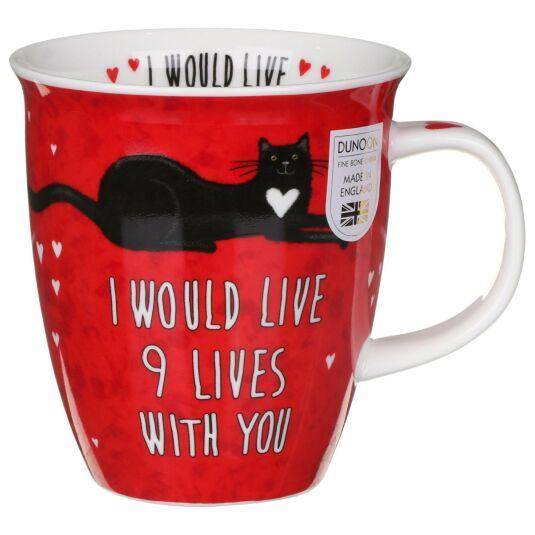 Loved Up Cat Nevis Shape Mug