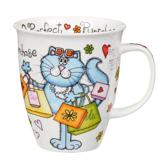 Purrfect Cats Purrchase Nevis Shape Mug