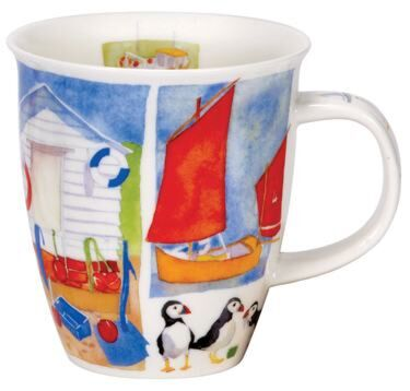 Sea Breeze Puffins Nevis shape Mug