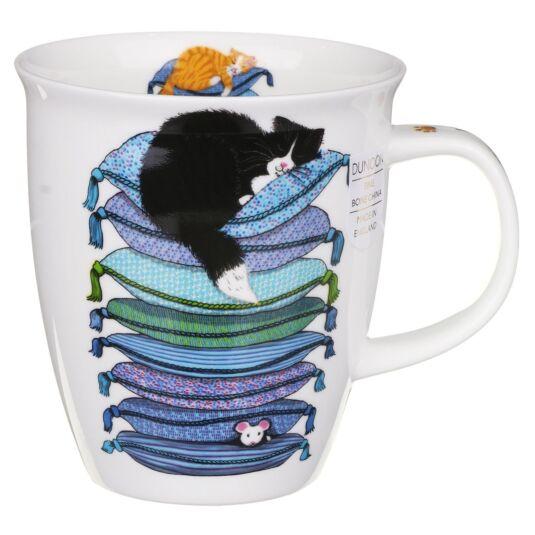 Sleepy Cats Blue Nevis Shape Mug
