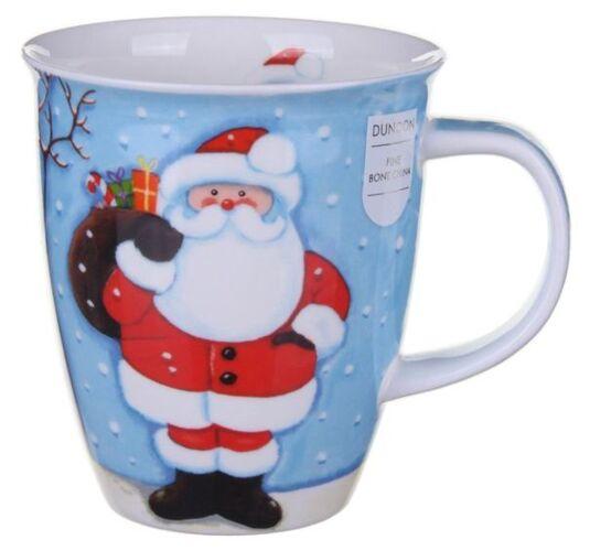 Snowy Christmas Santa Nevis shape Mug