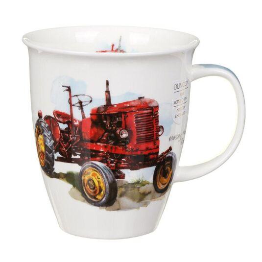 Tractors Red Nevis Shape Mug