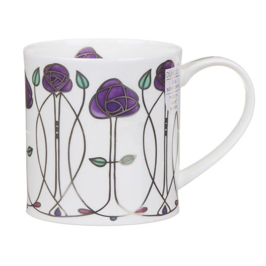 Argyle Purple Orkney Shape Mug