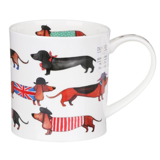 Dashing Dogs Sausage Dogs Orkney Shape Mug