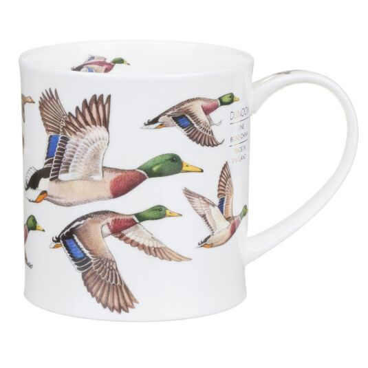 Birds In Flight Mallards Orkney Shape Mug