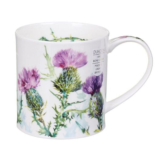 Scottish Thistle Orkney Shape Mug