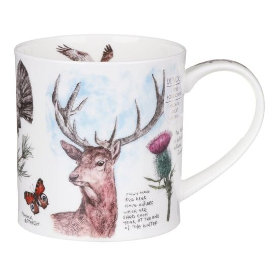 Scottish Notebook Stag Orkney Shape Mug