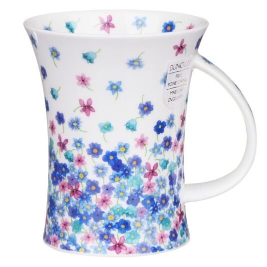 Fleurette Blue Richmond Shaped Mug