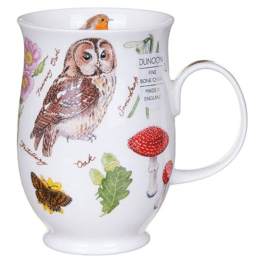 Woodland Owl Suffolk Shape Mug