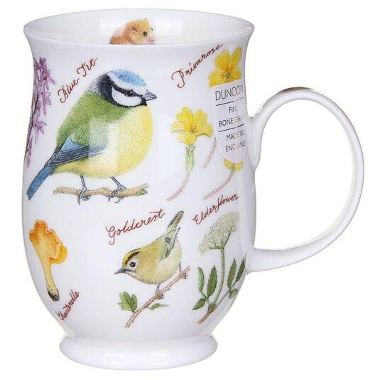 Woodland Blue Tit Suffolk Shape Mug