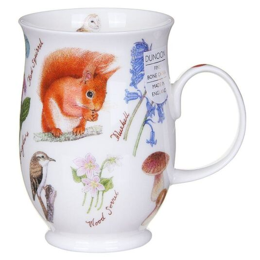 Woodland Squirrel Suffolk Shape Mug