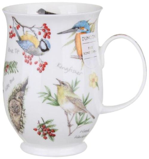 Dawn Song Blue Tit Suffolk shape Mug