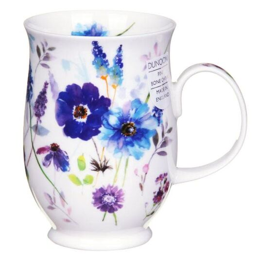 Floral Harmony Blue Suffolk Shape Mug