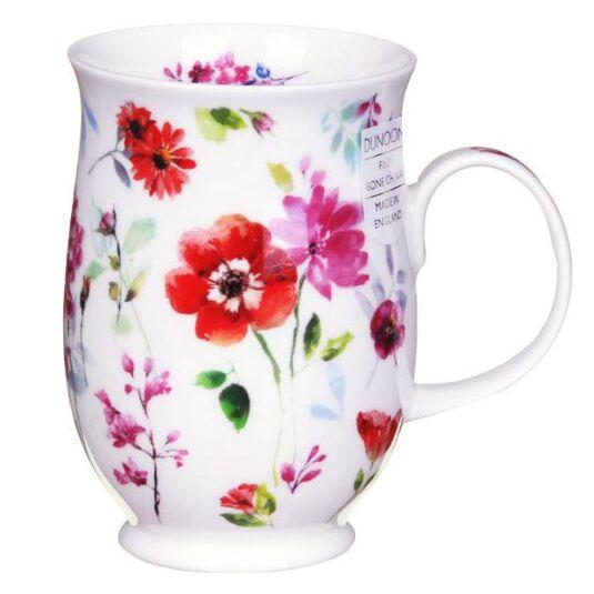 Floral Harmony Red Suffolk Shape Mug