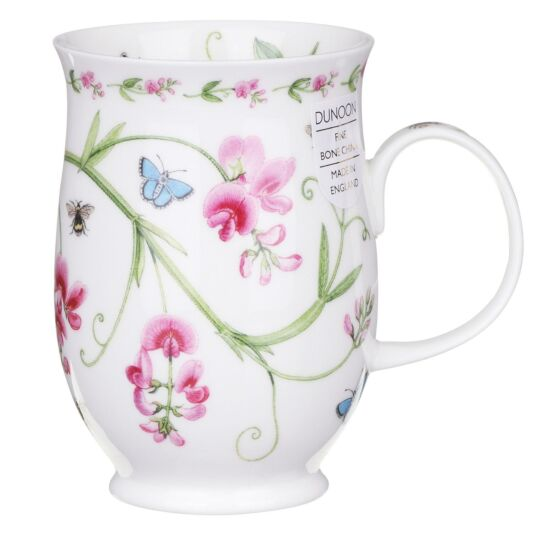 Floral Lane Sweet Peas Suffolk Shape Mug