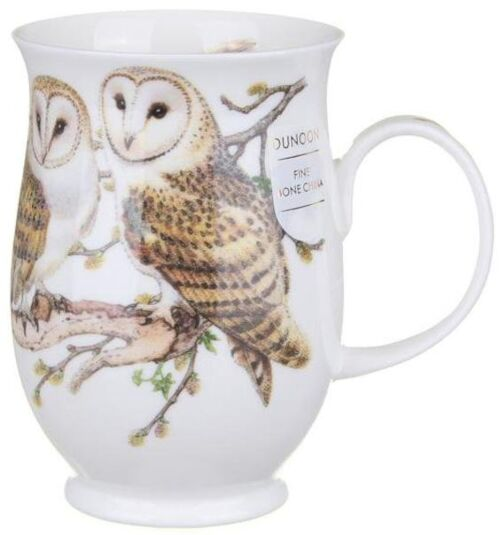 Barn Owls Suffolk shape Mug