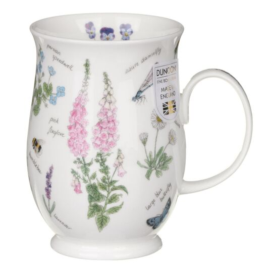 Nature's Notebook Foxgloves Suffolk Shape Mug