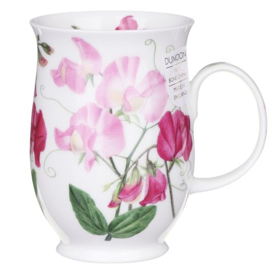 Sweet Peas Light Pink Suffolk Shape Mug