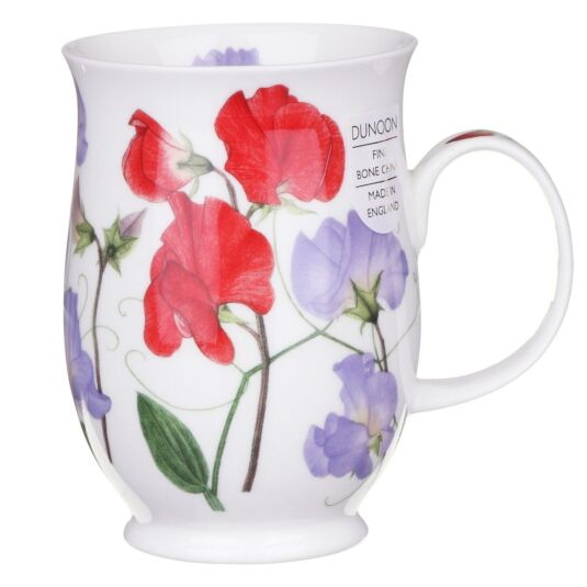 Sweet Peas Red Suffolk Shaped Mug