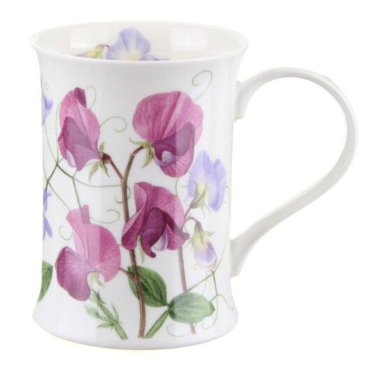 Sweet Peas Purple Cotswold shape Mug