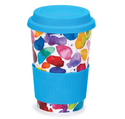 Blobs! Red Travel Mug