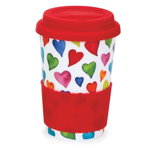 Warm Hearts Travel Mug