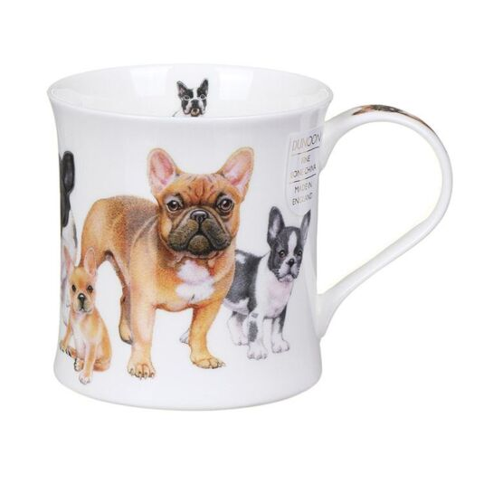 Designer Dogs French Bulldogs Wessex Shape Mug
