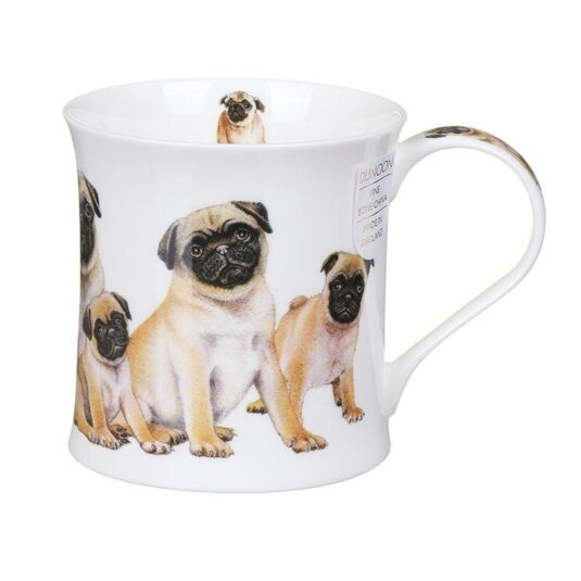 Designer Dogs Pugs Wessex Shape Mug