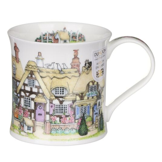 Cottage Row Thatched Wessex Shape Mug