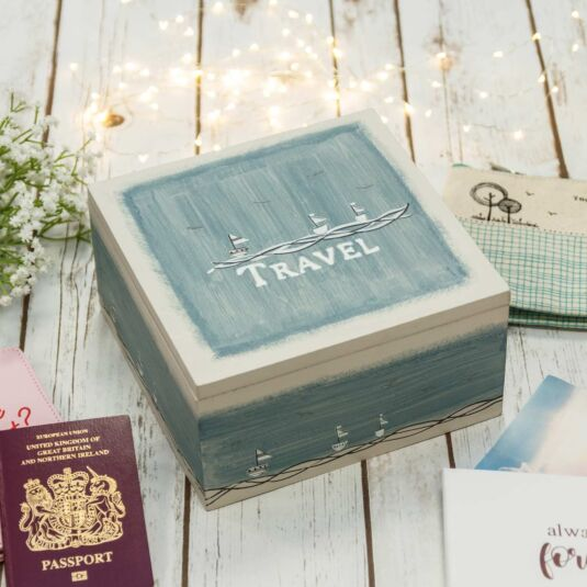 'Travel' Keepsake Box