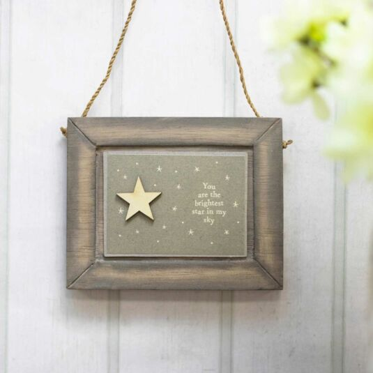 'Brightest Star' Small Hanging Picture