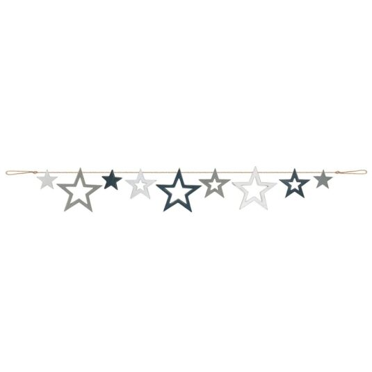 Navy and Grey 2 Metre Star Bunting